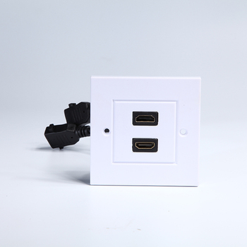 Hi Speed HDMI Wall Plate 2 Port Insert with 6 Inch hdmi cable