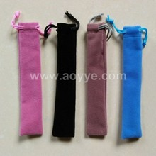Manufacturers wholesale bags Black flannelette drawstring bags pencil pencil case velvet drawstring pen bag