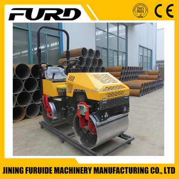 Small Double Drum 1 Ton Compactor Vibratory Roller (FYL-880)