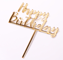 customized gold graduation birthday wedding baby shower party supplies metallic cake topper for decoration