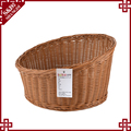 Wholesale in bulk bevel round shape fruit storage basket bread display