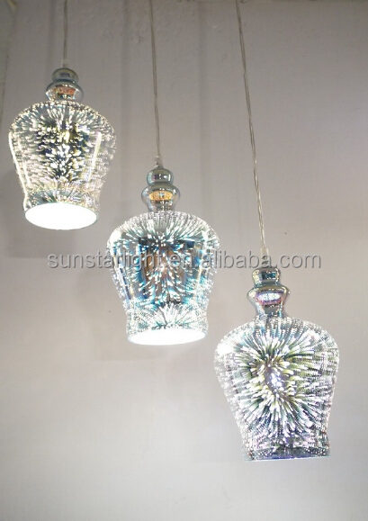 Pendant Chandelier Glass 3d Decorative Lighting Modern Fancy Pendant Light/ Lamp