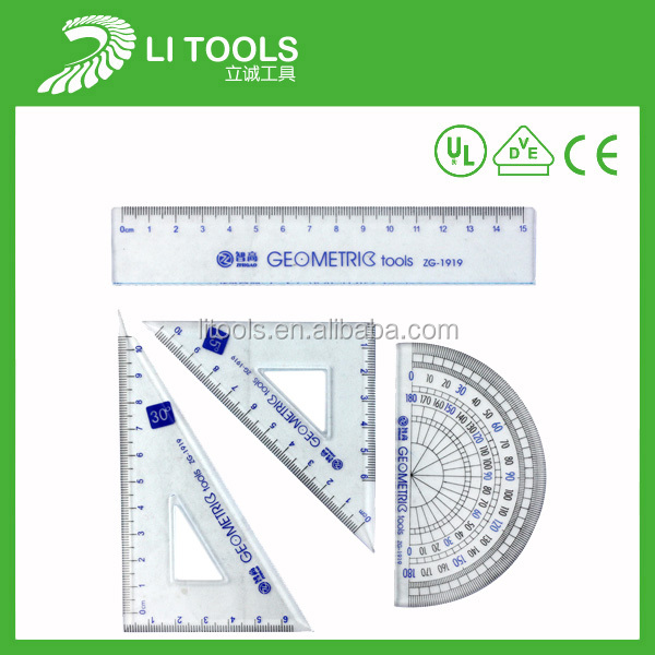 Ruler and compasses set drawing compasses