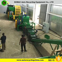 Chinese used tyre/waste rubber recycling equipments with CE