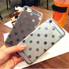 Fashion DIY TPU glitter design mobile phone case for iphone 6 imd cell phone cover for Iphone 6