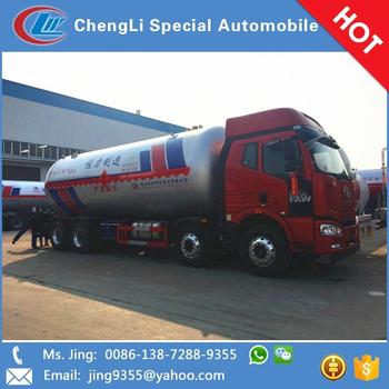 35.5cbm Faw heavy duty 8x4 propane tanker delivery trucks for sale in Nauru