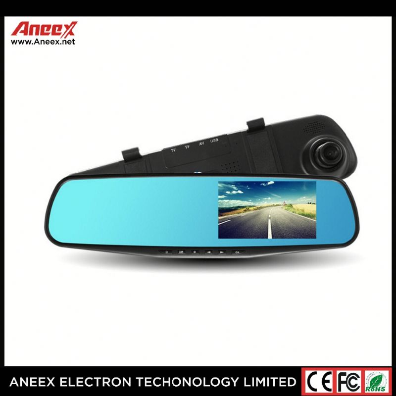 New Fashion 4.3 Inch Car Black Box Dual Lens Video Recorder Dash Cam Rearview Mirror Car Camera 1080P HD Car DVR