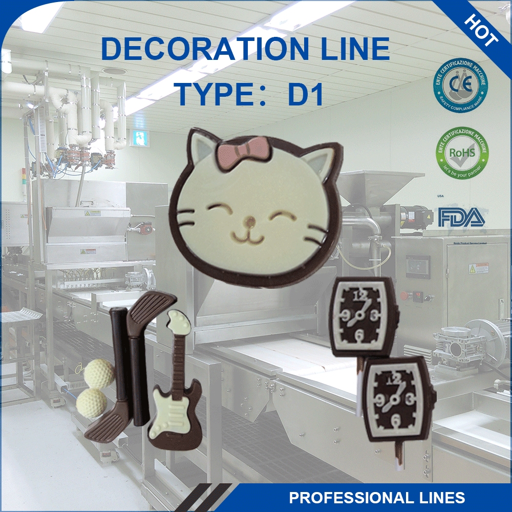 Decoration Two Color Chocolate Depositing Machine Making Line