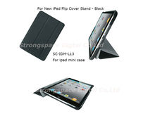 Stand Smart PU Leather Case Cover for Apple iPad Mini Black