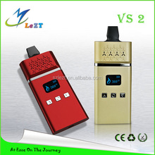 2015 Taitanvs Newest Product e Cigarette VS2 leather bags e cig dry herb vaporizer