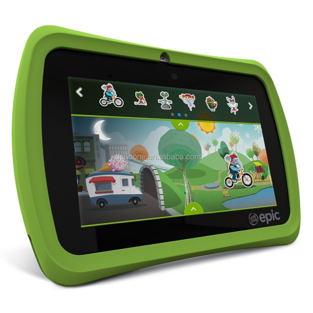 "New FDA Approval KIDS Quite Shock Absorb Tablet Bumper Cover Cases for LeapFrog Epic 7"" Android-based Kids Tablet"