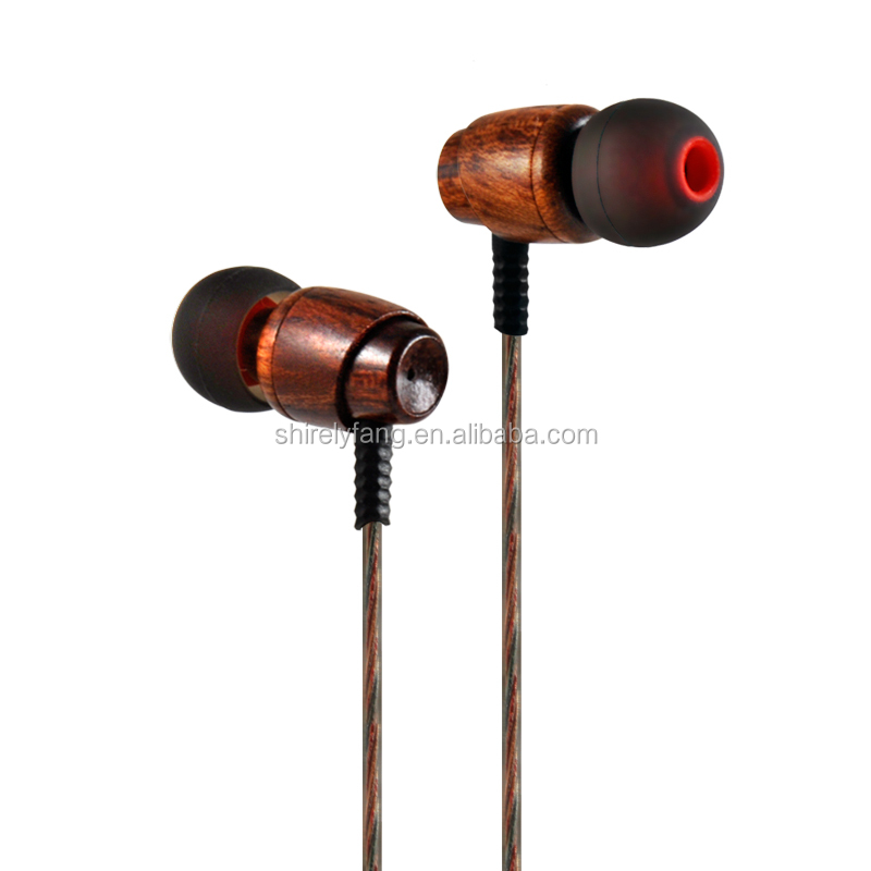 Super Bass earphones Wooden in Ear Headset Fone De Ouvido 3.5mm Jack for iphone samsung pc fone de ouvido