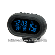 LCD thermometer battery powered digital car clock