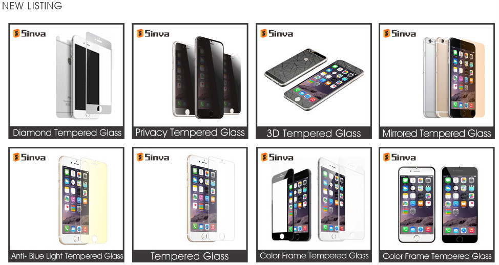 Colorful Mirror Tempered Glass Screen Protector For iPhone 6 On promotion on alibaba
