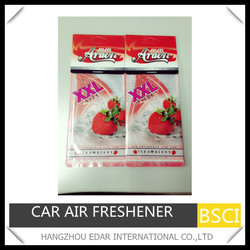 XXL size paper air freshener for car