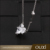 Cooper Alloy Luxury Necklace Women Jewellery Long Chain with key charm heart Austria crystal pendant love necklace