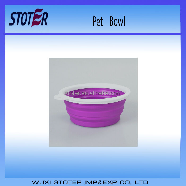 PVC and BPA Free Flexible Silicone Collapsible TRAVEL PET / dog bowl