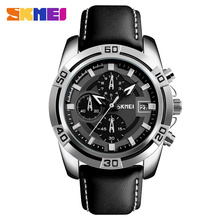 2017 latest urban style leather luxury wrist watches men stopwatch all dials working
