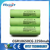 Hot sell 3.6v 2250mAh 18650 li-ion rechargeable battery cell for CGR18650CG - Free Samples