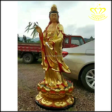 Hot sale high quality Tall Standing Female fiberglass Buddha Statue for sale