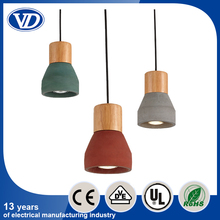 Professional custom vintage industrial wooden cement pendant light chandelier for living room