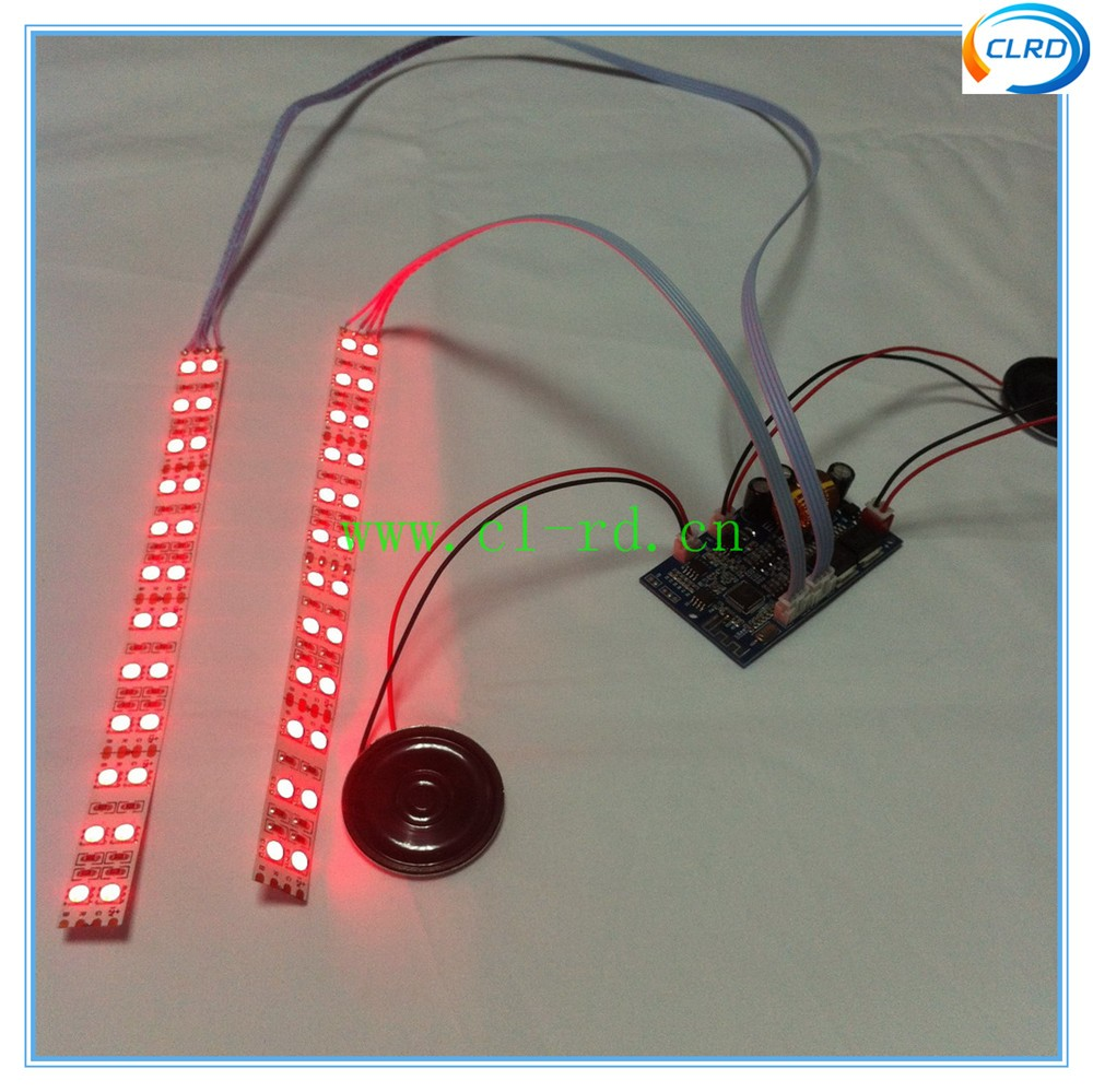 Brand New colorful led lights strip on the wheels with double track bluetooth speaker hoverboard replacement parts