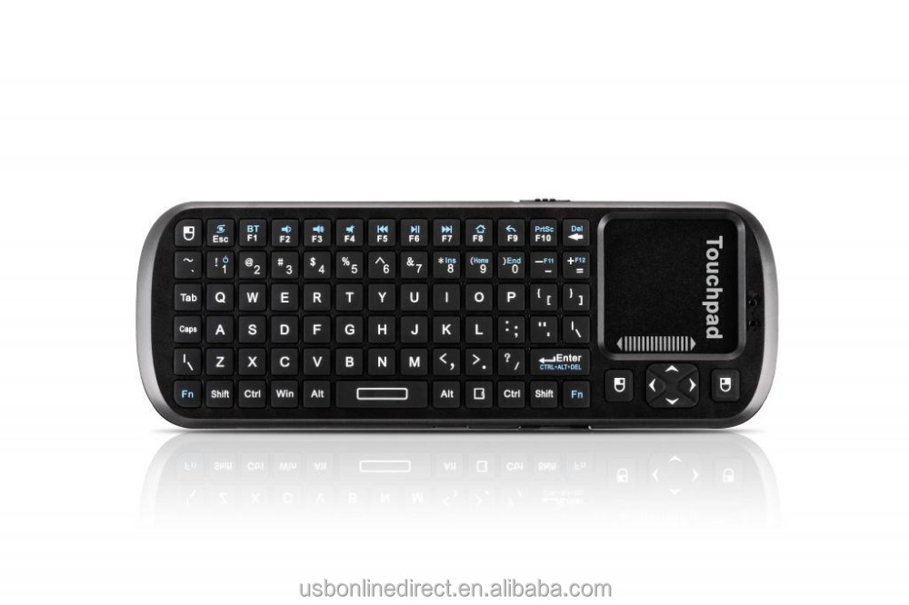 Low price mini bluetooth keyboard qwerty and touch pad wireless keyboard