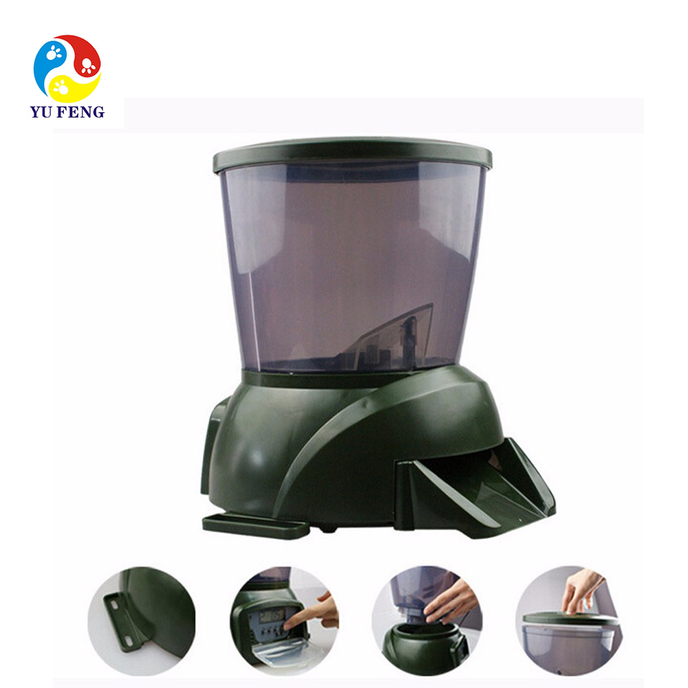 Automatic Fish Food Feeder Digital Programmable Feeding Dispenser 4 Timer for Aquarium Tank Pond Home Office Use With LCD