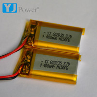 micro switches Lithium Polymer Battery 602035 3.7v 400mah Lipo Battery for Power Tools