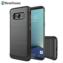 Excellent quality new style trendy TPU phone case for samsung S8 Carbon fiber case