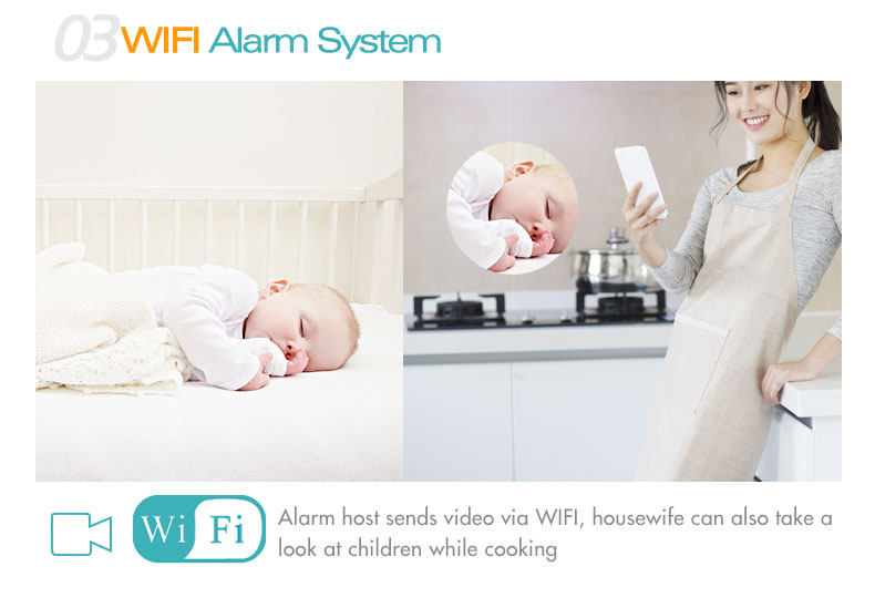 3G WIFI 433mhz Wireless GSM Alarm system with APP 88Wireless camera  infrared night vision home automation kit security