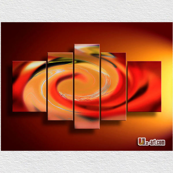 Modern Abstract pictures 5 panel painting oil for living room