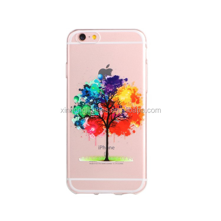New world online shopping for iphone6 color TPU uv printing cases