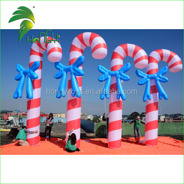 Inflatable Christmas Candy Cane , PVC Inflatable Crutch Balloon , New Christmas Decorations Inflatable Christmas