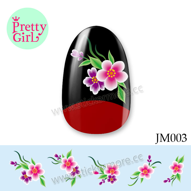 3D Beauty Nail Art Sticker Water Transfer Stickers Decoration Flower Decals Tips JM003
