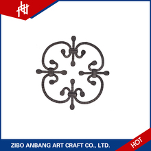 Easy assembling stamped parts forged decorative wrought iron panels for stairs/gate and fence