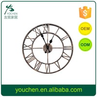 Antique Design Round Metal Wall Clock, Shabby chic Decorative Metal Clock, Home Decoration Round Wall Clock