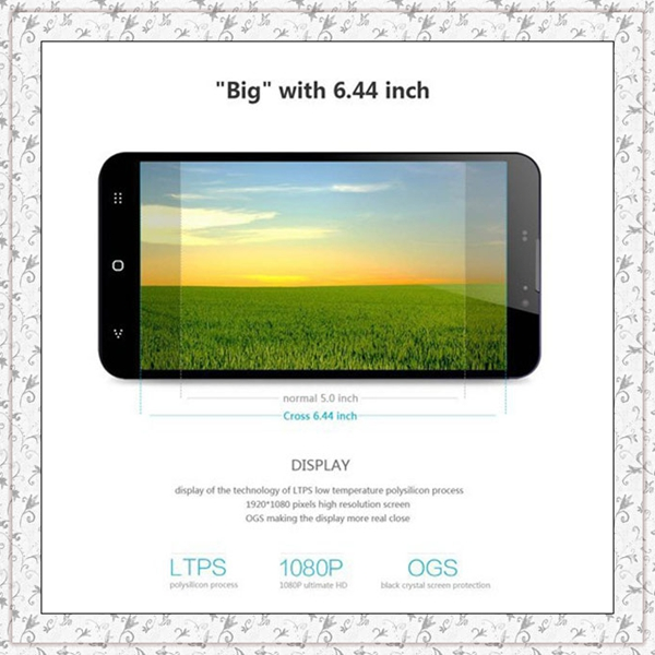 "Original Umi Cross smart Phone LTPS 6.44"" Screen MTK6589T Quad Core 1.5GHz 2G/32G 4180mAh Camera 13.0Mp NFC Android 4.2.1"
