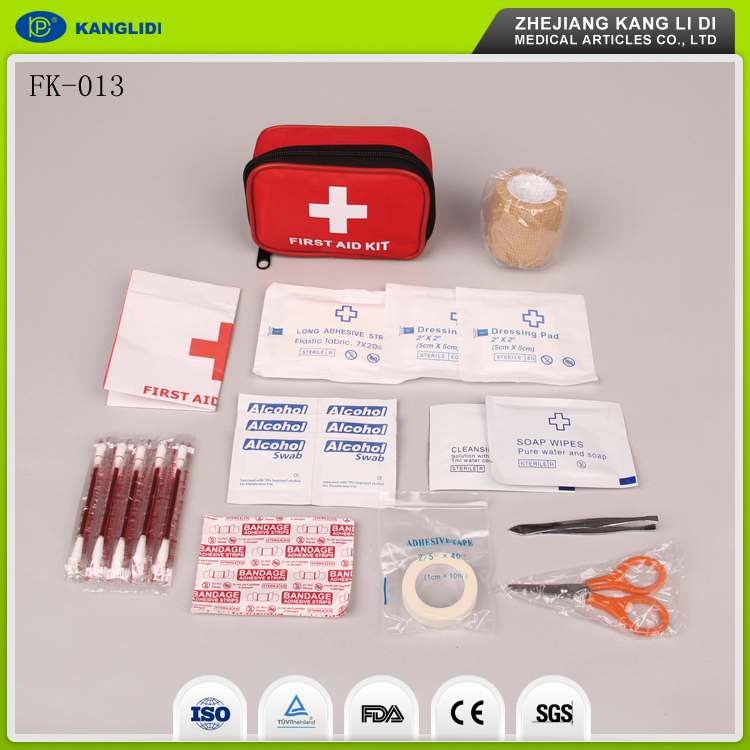 KLIDI High Quality Wholesale Red Color Emergency First Aid Kits For Sale