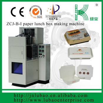 auto paper lunch box making machine