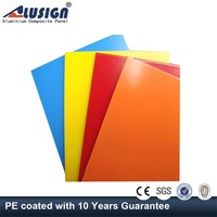 Alusign 5mm peal finish aluminum composite panel of wall facade
