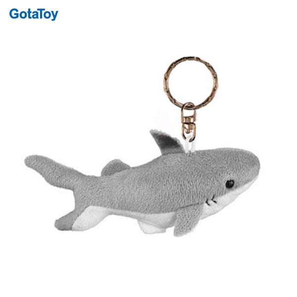 New design custom stuffed plush soft shark keyring toy plush keychain