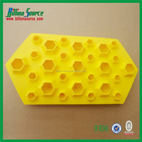 2015 cheapest promotion FDA and LFGB food grade diamond shaped silicone ice trays