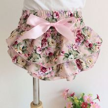 Girls' Baby Allover Floral Lace Ruffle Baby Bloomers Wholesale