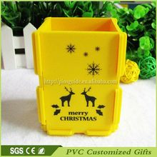 Factory Custom Soft PVC Materials Pen Container