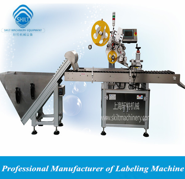 Automatic horizontal way labeler machine for sausage with feeder 0086-18917387699
