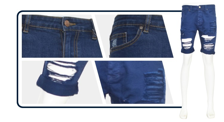 Nice design mens short destroyed jeans for boys