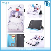 Cartoon Animal Painted Flip PU Leather case for Samsung Galaxy Tab E 8.0 T377 Tablet Cover