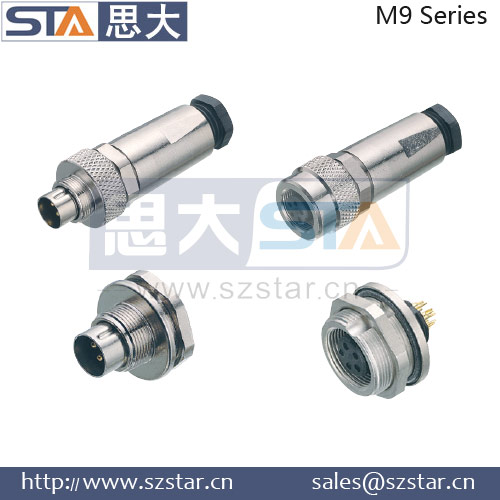 Replace Binder electric plug male female connectors with 4pin ,M9 connector