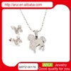 fashion jewelry wholesale stone party bags import jewelry from china silver electroforming necklace and earring set